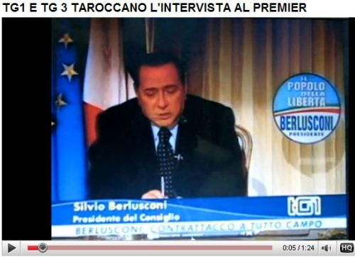 video, berlusconi, intervista, taroccata, cnn, tg1
